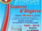 19 MARS 16H45 Invitation cérémonie 57 anniversaire du cessez le feu de la Guerre d'Algérie.