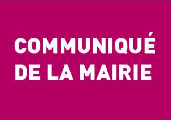 Communiqué de la mairie – 21 mars 2020