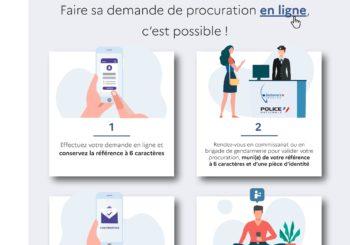 Elections Departementales et Regionales 2021 – maprocuration.gouv.fr – faire sa demande de procuration en ligne